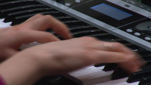 keyboards hands Stock Video Footage