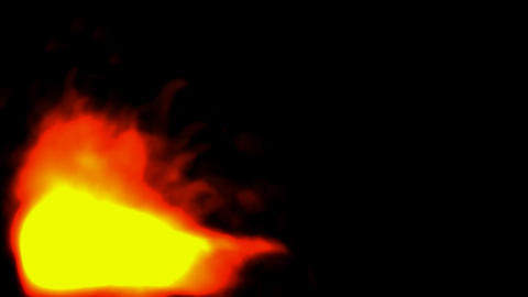 Flames,smoke,air,evaporation,wind,cotton,wool,flowers,blo... Stock Video Footage