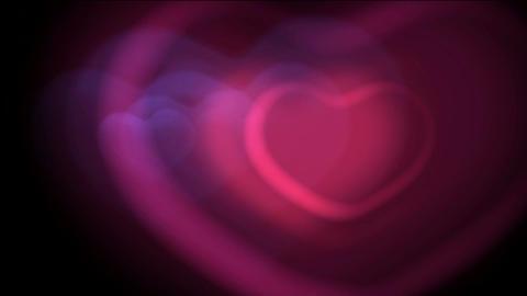 pink heart,falling... Stock Video Footage