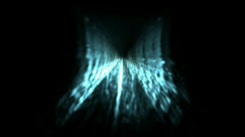 Time Tunnel,blue light trails in 3D... Stock Video Footage