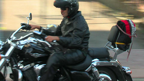 Biker 1 Stock Video Footage