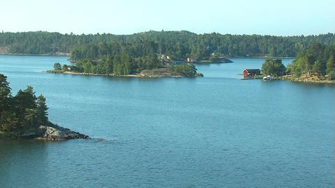 Islands in Scandinavia 2 Stock Video Footage