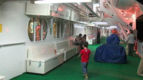 Passengers on the liner 2 Stock Video Footage