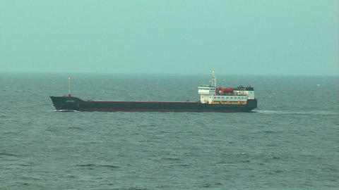 Ship at sea 2 Stock Video Footage