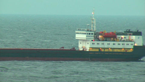Ship at sea 1 Stock Video Footage