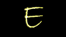GOLDEN LETTERS (E,F,G,H) Stock Video Footage