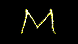GOLDEN LETTERS (M,N,O,P) Stock Video Footage