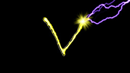 GOLDEN LETTERS (U,V,W,X) Animation
