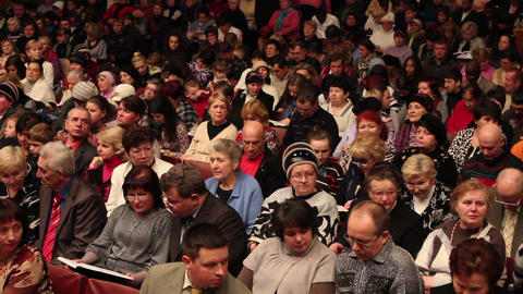 Listening crowd 3 Stock Video Footage