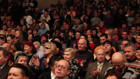 Praises crowd 1 Stock Video Footage