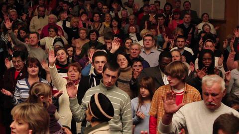 Praises crowd 5 Stock Video Footage