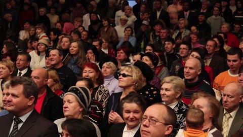 Praises crowd 7 Stock Video Footage