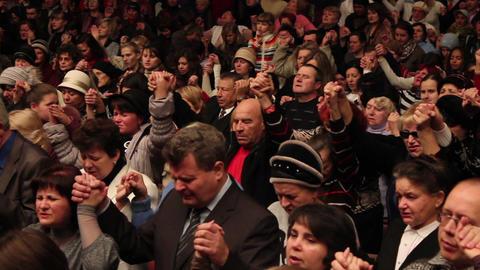 Praises crowd 9 Stock Video Footage