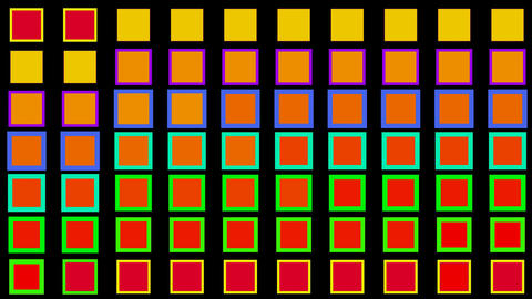 Color square matrix, disco... Stock Video Footage
