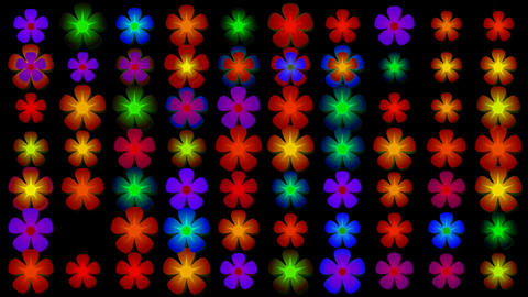flicker flower neon light,Festivals,creativity,creative,vj,beautiful,art,decorative,mind,Game,Led,ne Animation