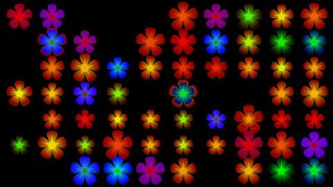 flicker flower neon... Stock Video Footage