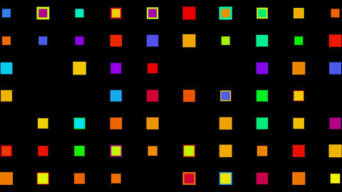 Color square matrix,background,gems,jade,Game,Led,neon... Stock Video Footage