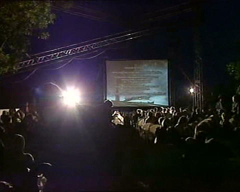 festival film open air Stock Video Footage
