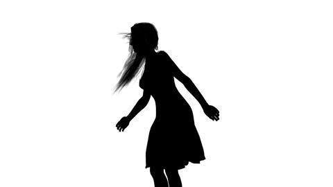 女性のシルエット Animation