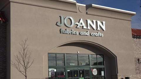 Joann Fabrics And Crafts Exterior stock footage