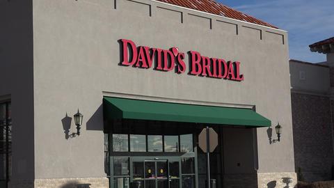 David's Bridal Boutique Exterior Shot Footage