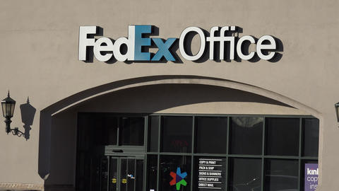 FedEx Office Building Exterior Zoom Out Footage