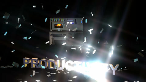 Paperwork Explosion, Smashing Productivity: 4k stock footage