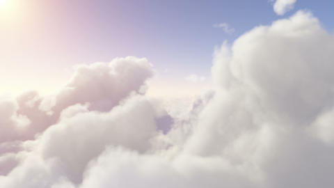 Flying through the clouds. Eden Animation