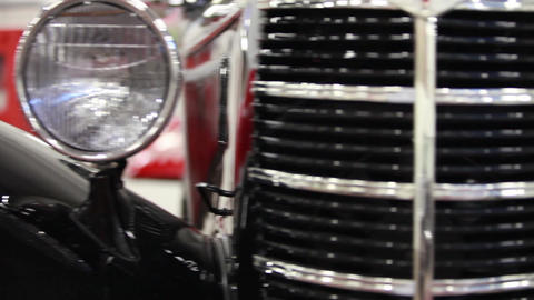 retro car motor show Footage
