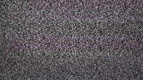 TV snow with large noise Footage