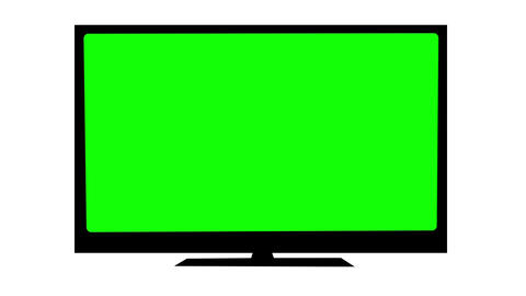 TV With Green Screen stock footage