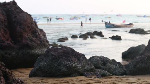 seashore on the sand beach Footage