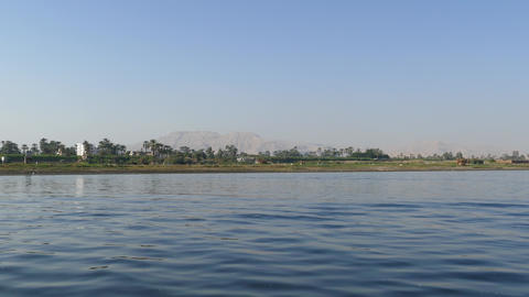 Nile river landscape - view from boat 4k Footage