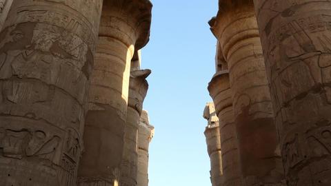 Columns In Karnak Temple - Tilt View 4k stock footage