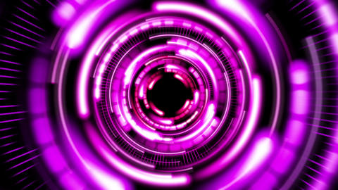 Funky VJ Tunnel V3 stock footage