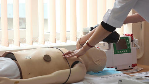 dummy for training of students of cardiologists Footage