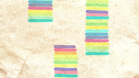 Hand drawn colorful abstract background on paper Animation
