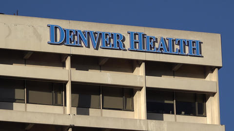 Denver Health Hospital Exterior Building stock footage