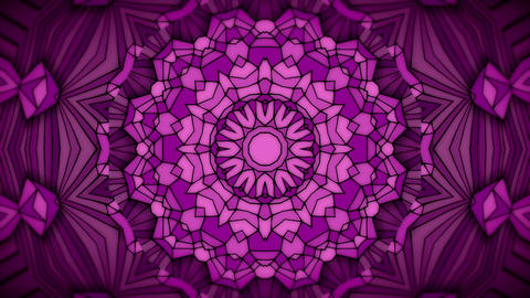 Hand drawn geometric kaleidoscope pattern animatio Animation