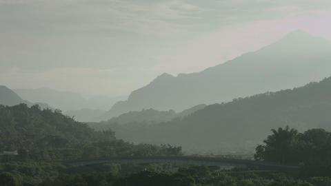 Taiwan Mountains stock footage