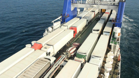 large cargo ferry Footage