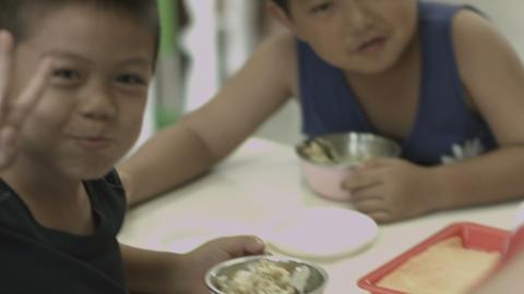 Kindergarten lunch Footage