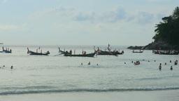 Boats near beach Footage