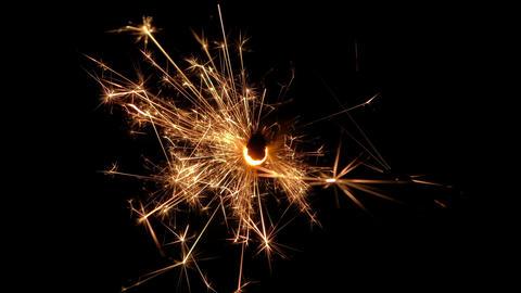 sparkler slow motion 04 Footage