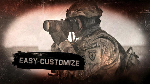 Military Grunge Promo After Effects Template