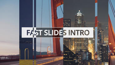 Fast Slides Intro - Apple Motion and Final Cut Pro X Template Apple Motion 模板