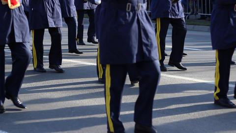 Army Fanfare Parade Footage