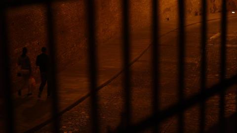 Behind Bars Night View Footage