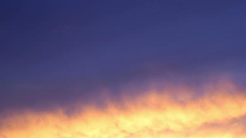 Burning Sky Sunset Timelapse Footage