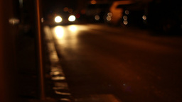 Cars On City Streets At Night stock footage